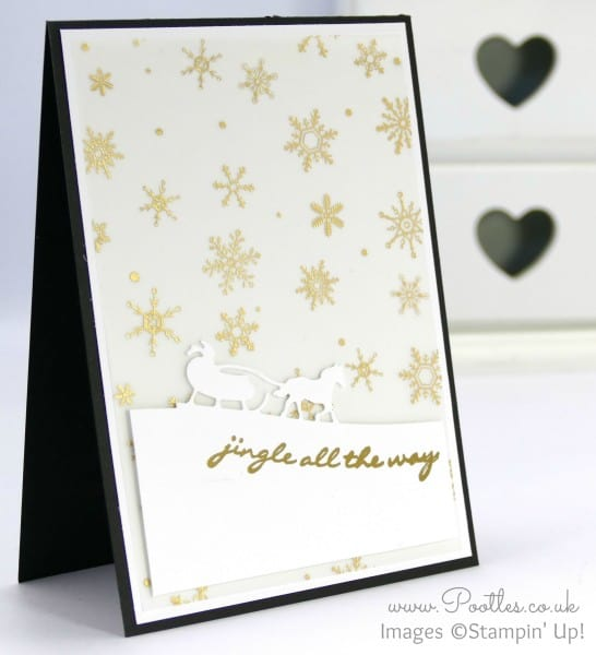 Stampin' Up! Demo Pootles - Jingle All The Way with Sleigh Ride Edgelits & Winter Wonderland