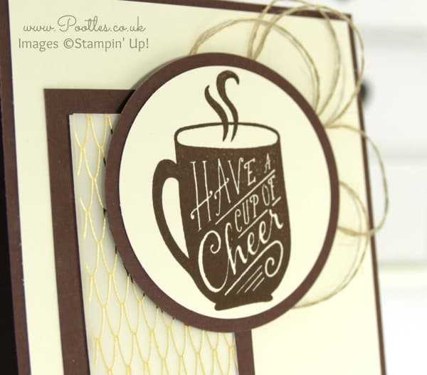 Stampin' Up! Demonstrator Pootles - A Cup of Cheer and a Banner...! close up