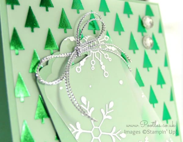 Stampin' Up! Demonstrator Pootles - A Mint Green Christmas Tag Top