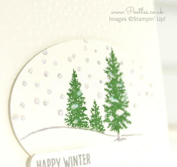 Stampin' Up! Demonstrator Pootles - A Softly Falling Happy Scene Glitter Detail