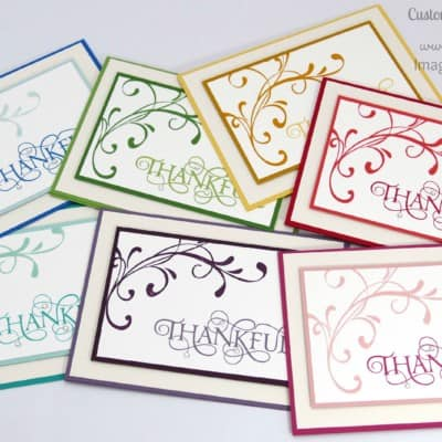 A mixed array of Customer Thank You Cards