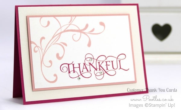 Stampin' Up! Demonstrator Pootles - A mixed array of Customer Thank You Cards Close Up