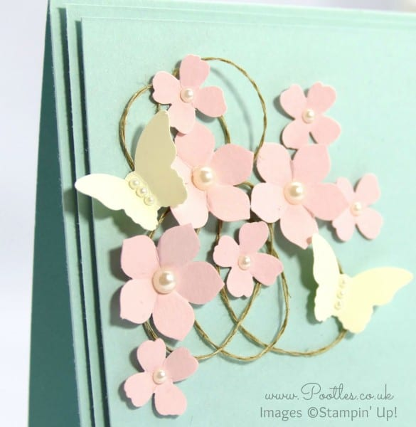 Stampin' Up! Demonstrator Pootles - Butterfly Card Inspiration from a Mobile Phone Case... Close Up