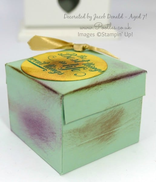 Stampin' Up! Demonstrator Pootles - Jacob's Ikea Candle Jar Box Tutorial using Stampin' Up! Supplies Jacobs box sponged