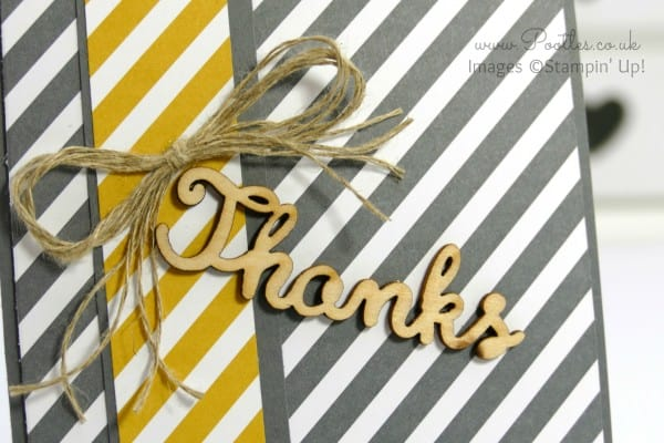 Stampin' Up! Demonstrator Pootles - Manly Thank You Card Idea Expressions Natural Elements