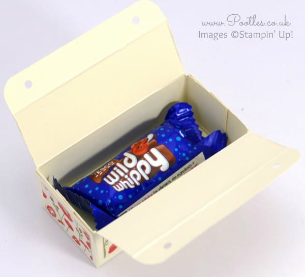 Stampin' Up! Demonstrator Pootles - Mini Chocolate Bar Box Tutorial Open