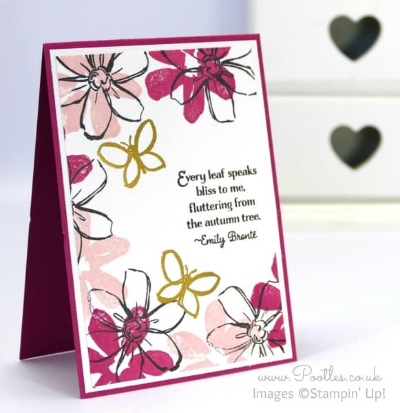 Stampin' Up! Demonstrator Pootles - Pink and a spot of Gold with Stampin' Up! Garden in Bloom