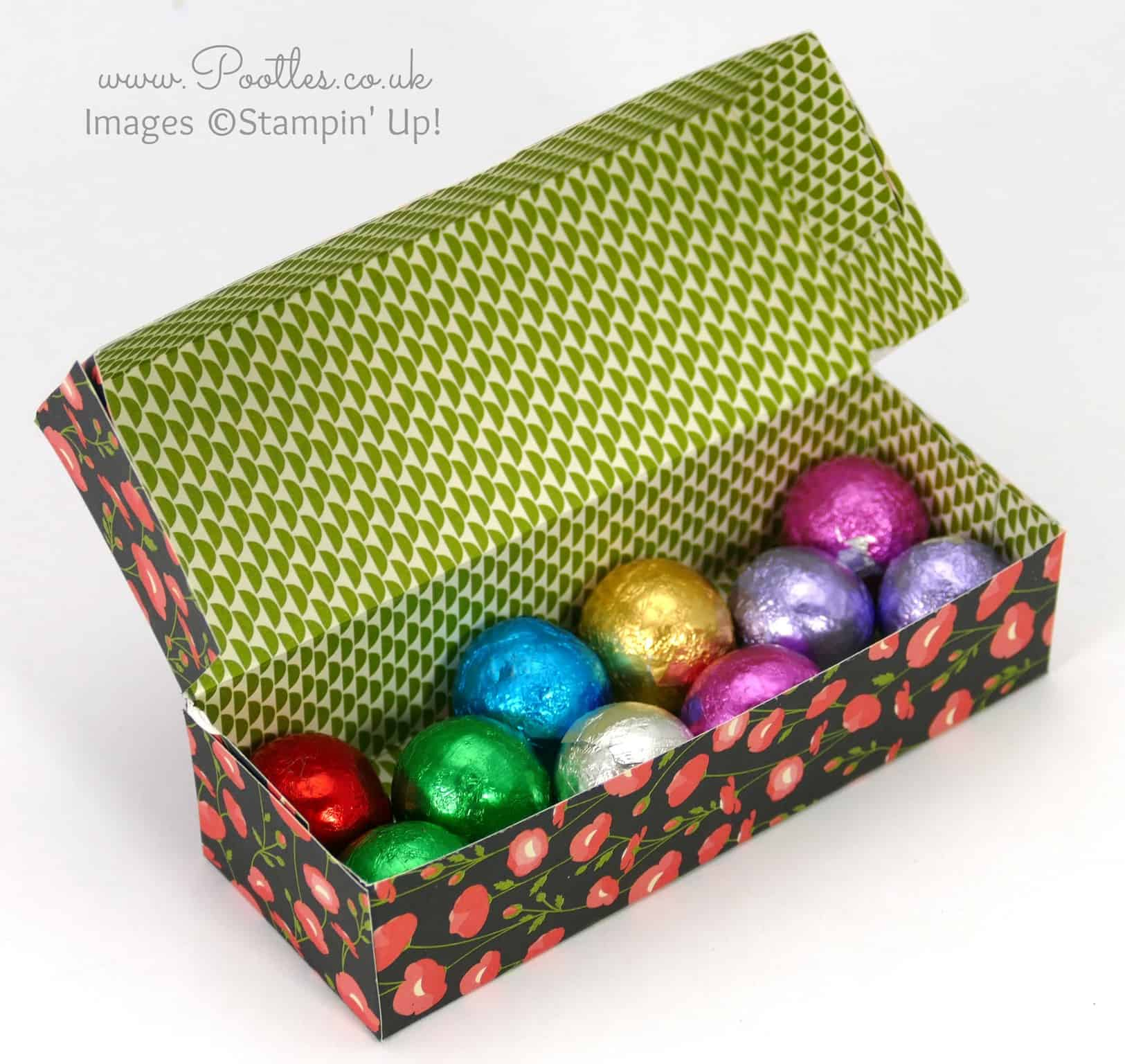 Pretty Chocolate Box Tutorial using Stampin' Up! DSP