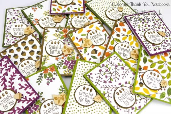 Stampin' Up! Demonstrator Pootles - September Thank You Gift Notebooks Tutorial Full Collection