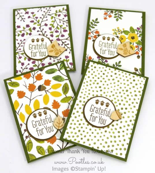 Stampin' Up! Demonstrator Pootles - September Thank You Gift Notebooks Tutorial Mossy Meadow