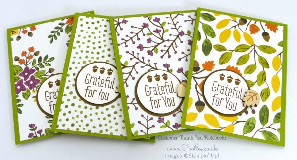 Stampin' Up! Demonstrator Pootles - September Thank You Gift Notebooks Tutorial Old Olive