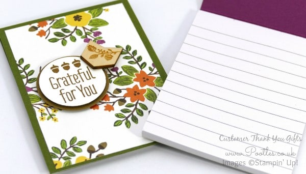 Stampin' Up! Demonstrator Pootles - September Thank You Gift Notebooks Tutorial Open