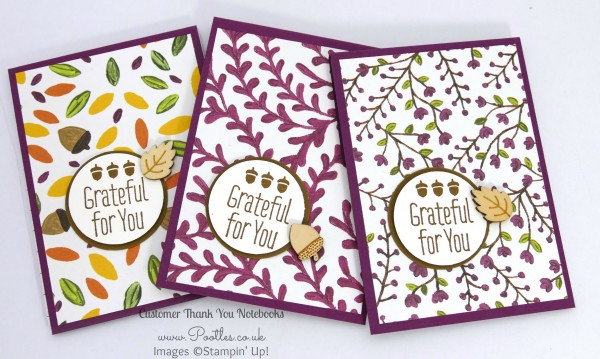 Stampin' Up! Demonstrator Pootles - September Thank You Gift Notebooks Tutorial Rich Razzleberry