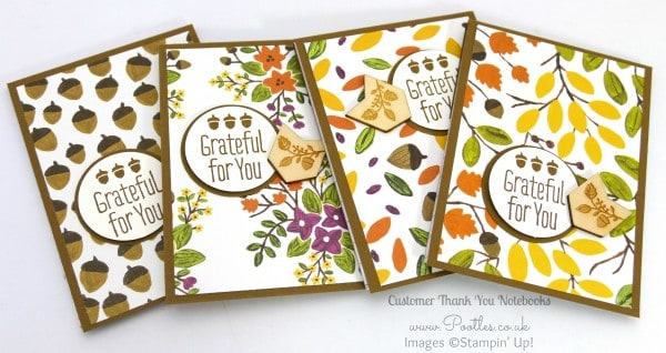 Stampin' Up! Demonstrator Pootles - September Thank You Gift Notebooks Tutorial Soft Suede