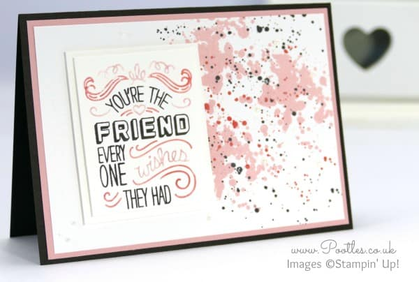 Stampin' Up! UK Demonstrator Pooltes - Friendly Wishes and Quirky Colours Plus Card Giveaway Close up