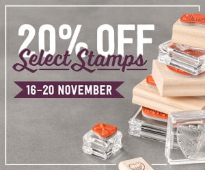 20% off Selected Stamps - 5 days only!