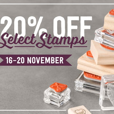 HOT NEWS! 20% off Stamps for 5 Days Only!