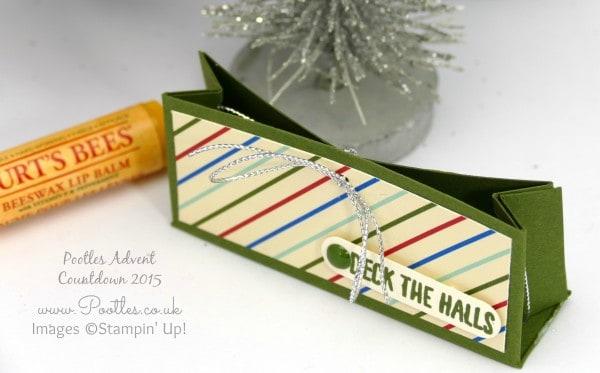 Pootles Advent Countdown #19 Hanging Lip Balm Box Tutorial Single