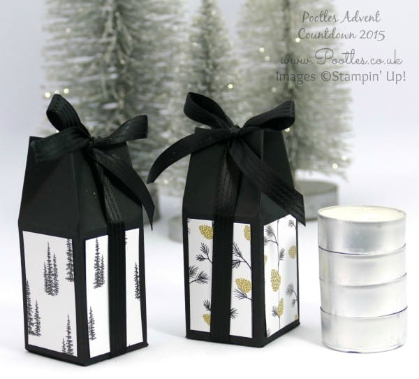 Pootles Advent Countdown #22 Christmas Box for 4 Tealights