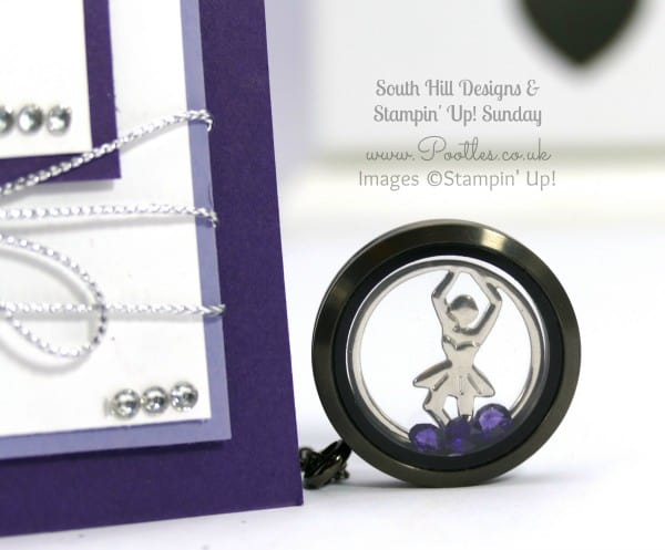 South Hill Designs & Stampin' Up! Sunday Dancers & Screen Coin Showcase Card Locket