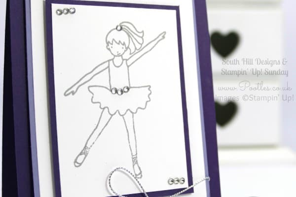 South Hill Designs & Stampin' Up! Sunday Talented Trio Dancer