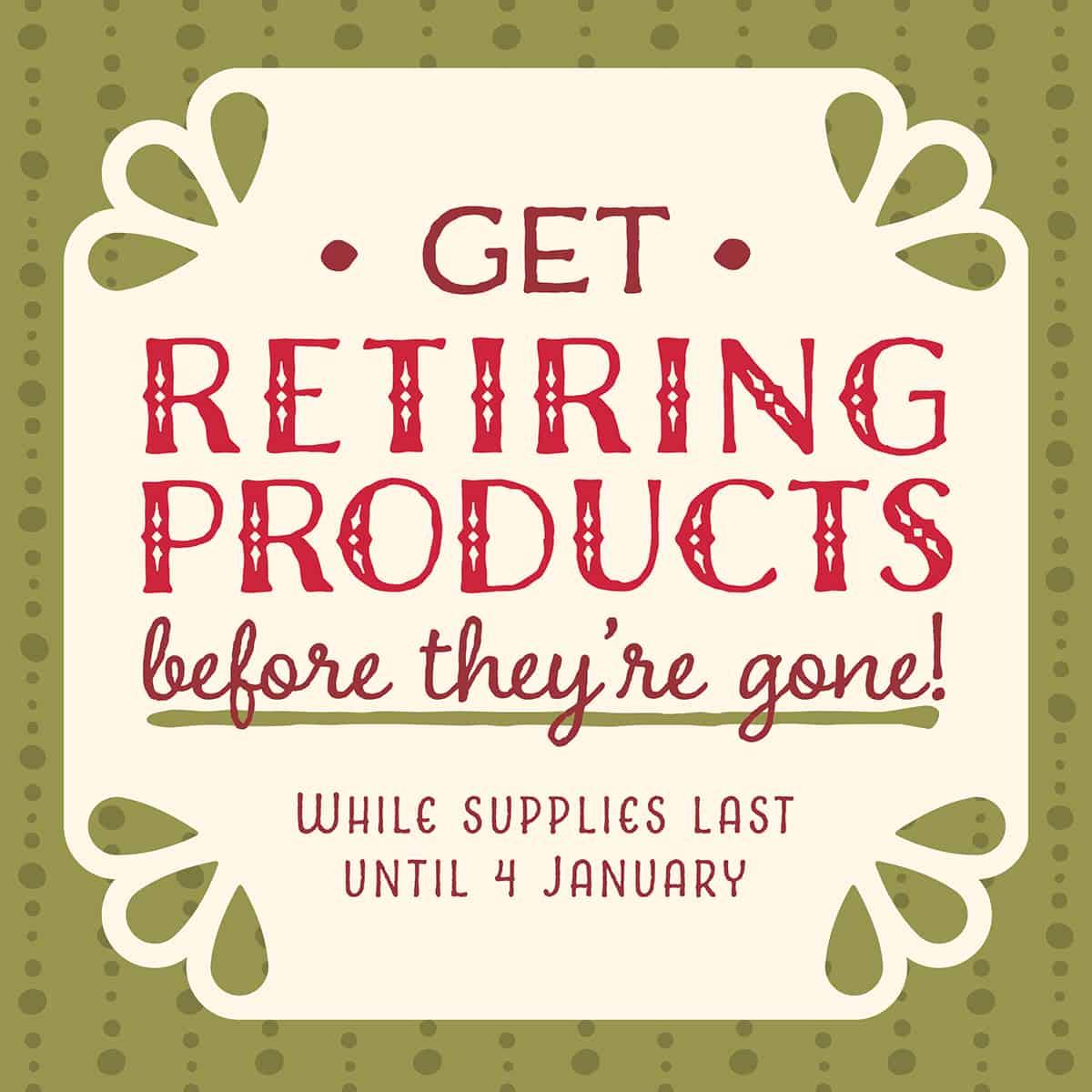 Stampin' Up! Autumn Winter Retiring List – While Stocks Last