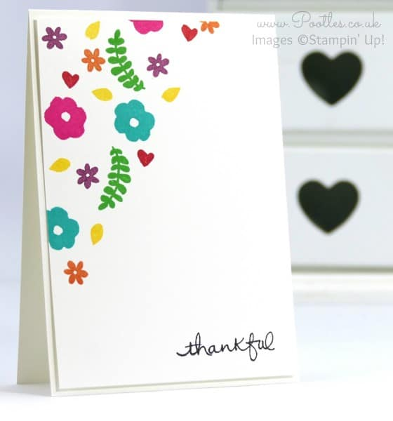 Stampin' Up! Demonstrator Pootles - Single Layer Stamping with Endless Thanks by Stampin' Up!