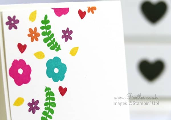 Stampin' Up! Demonstrator Pootles - Single Layer Stamping with Endless Thanks by Stampin' Up! Close up