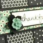 Thankful Card using Stampin' Up! Pretty Petals Paper