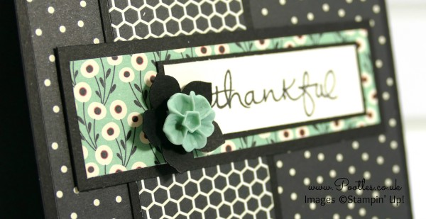 Thankful Card using Stampin' Up! Pretty Petals Paper Endless Thanks
