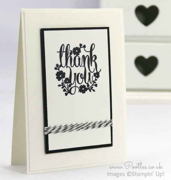 Stampin' Up! Demonstrator Pootles - A Whole Lot of Lovely - Thank you Card