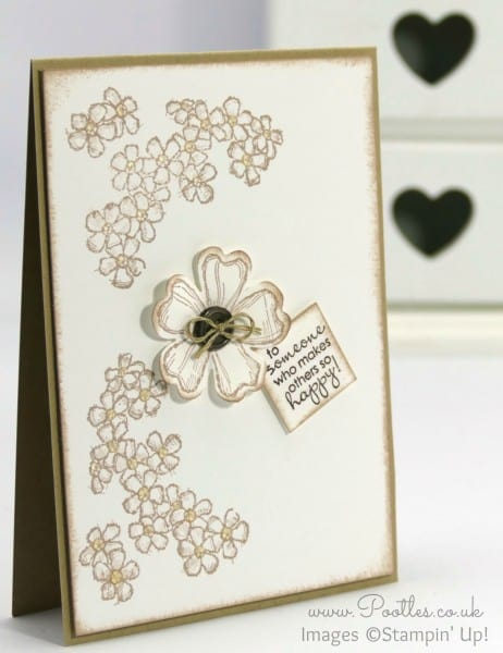 Stampin' Up! Demonstrator Pootles - Birthday Blossoms Crumb Cake Card
