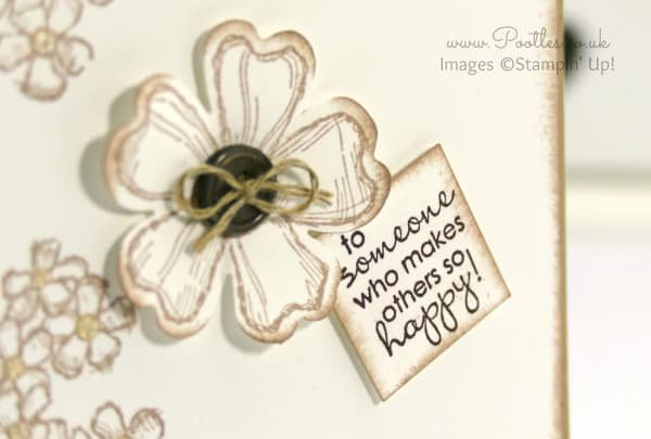 Stampin' Up! Demonstrator Pootles - Birthday Blossoms Crumb Cake Card Close Up