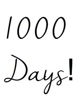 Pootles 1000 days