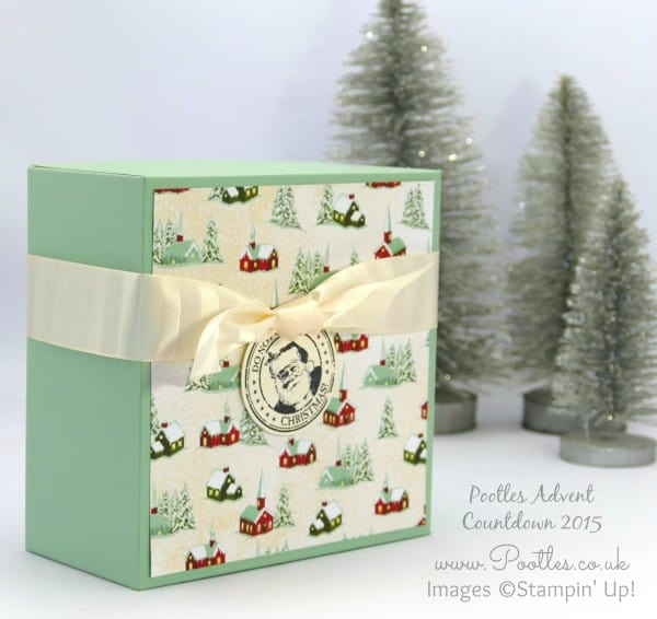 Pootles Advent Countdown 2015 #23 Huge Gift Box Tutorial Mint Macaron