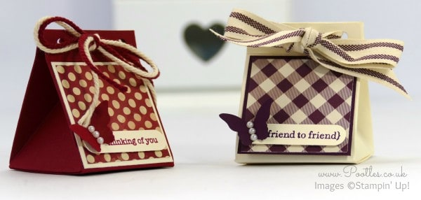 Stampin' Up! Demonstrator Pootles - 2x2 Triangular Treat Box Tutorial