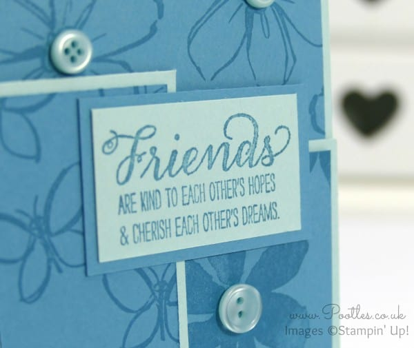 Stampin' Up! Demonstrator Pootles - Blue Blue Garden in Bloom Close Up