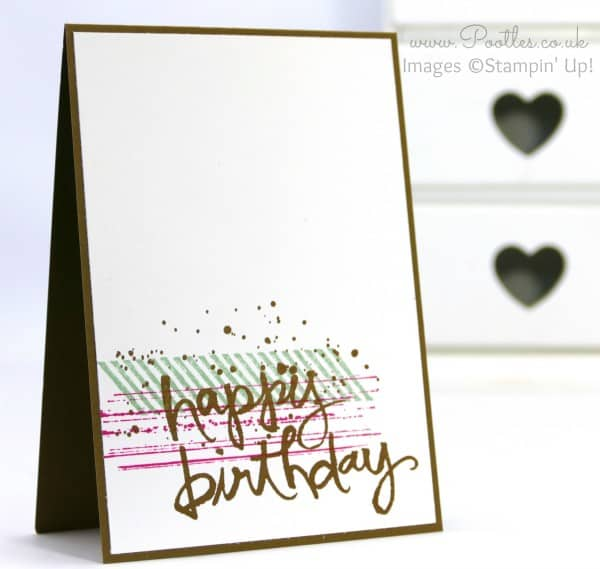 Stampin' Up! Demonstrator Pootles - Gorgeous Grunge Guy Card with Watercolour Words