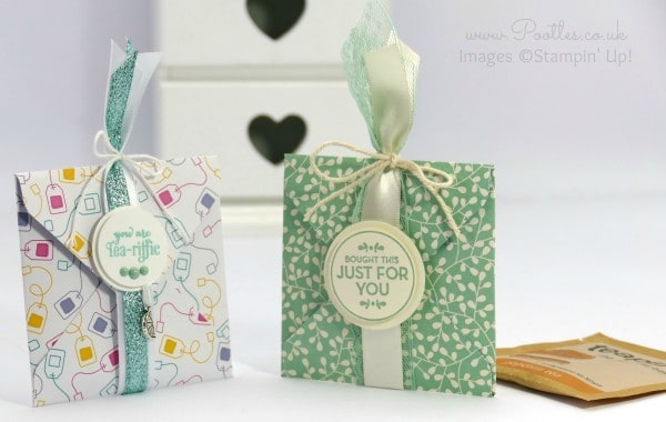 Stampin' Up! Demonstrator Pootles - Tea Bag Envelope Punch Board Pouch Tutorial