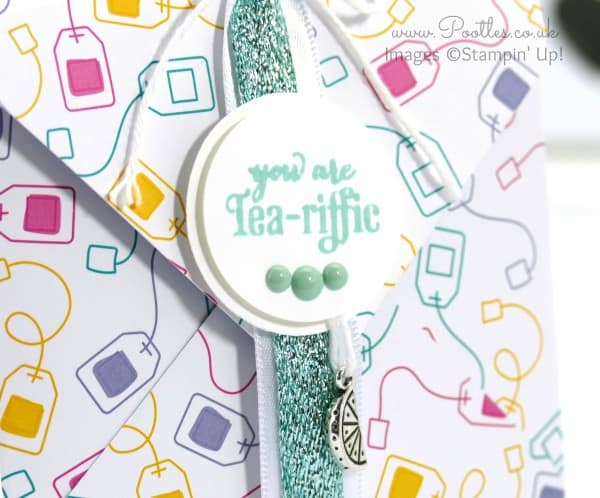 Stampin' Up! Demonstrator Pootles - Tea Bag Envelope Punch Board Pouch Tutorial Close Up