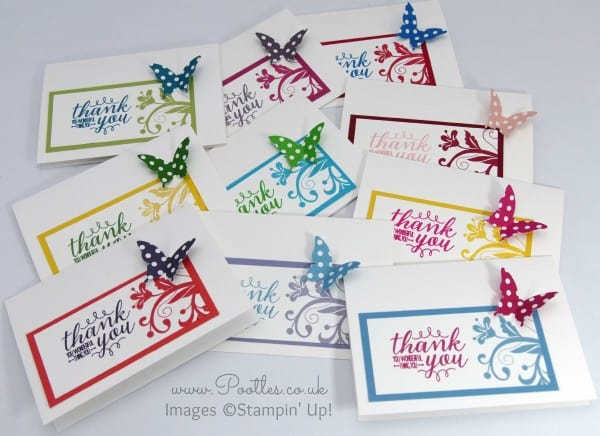 Stampin' Up! Demonstrator Pootles - Thank You Note Cards with Spring Goodies! All