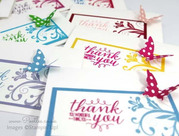Stampin' Up! Demonstrator Pootles - Thank You Note Cards with Spring Goodies! Scatter