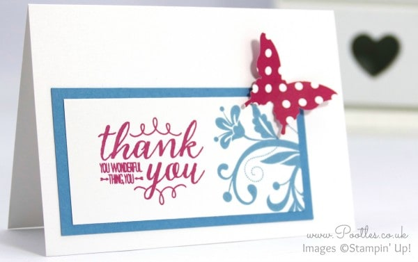 Stampin' Up! Demonstrator Pootles - Thank You Note Cards with Spring Goodies! Single