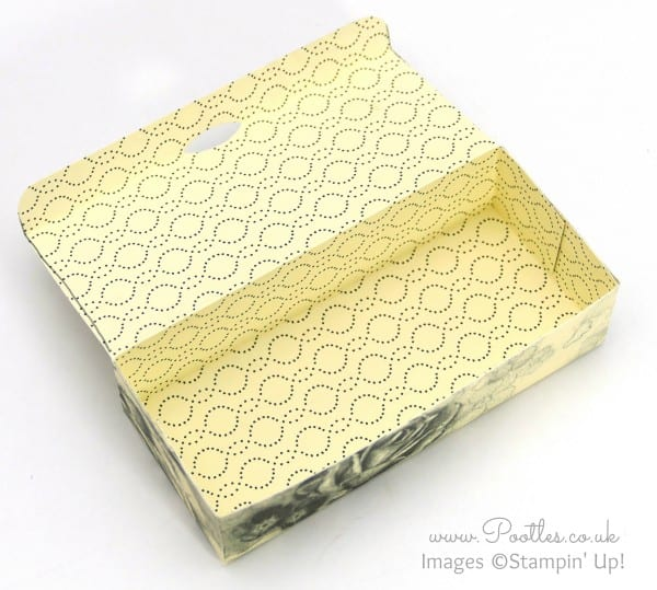 Stampin' Up! Demonstrator Pootles - Use it Up! 6x6 Pretty Box Tutorial Open