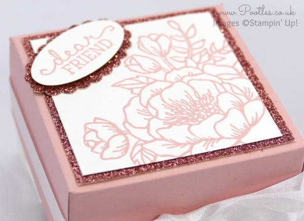 South Hill Designs & Stampin' Up! Sunday Pretty Floral Box Close Up