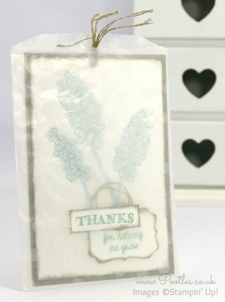 Stampin' Up! Demonstrator Pootles - Beautiful Bag of Thanks for Helping me Grow!