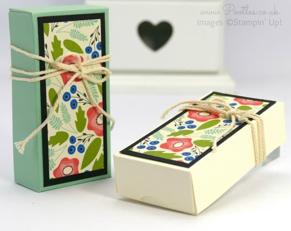 Stampin' Up! Demonstrator Pootles - Fold Over Box using Stampin' Up! Pretty Petals DSP