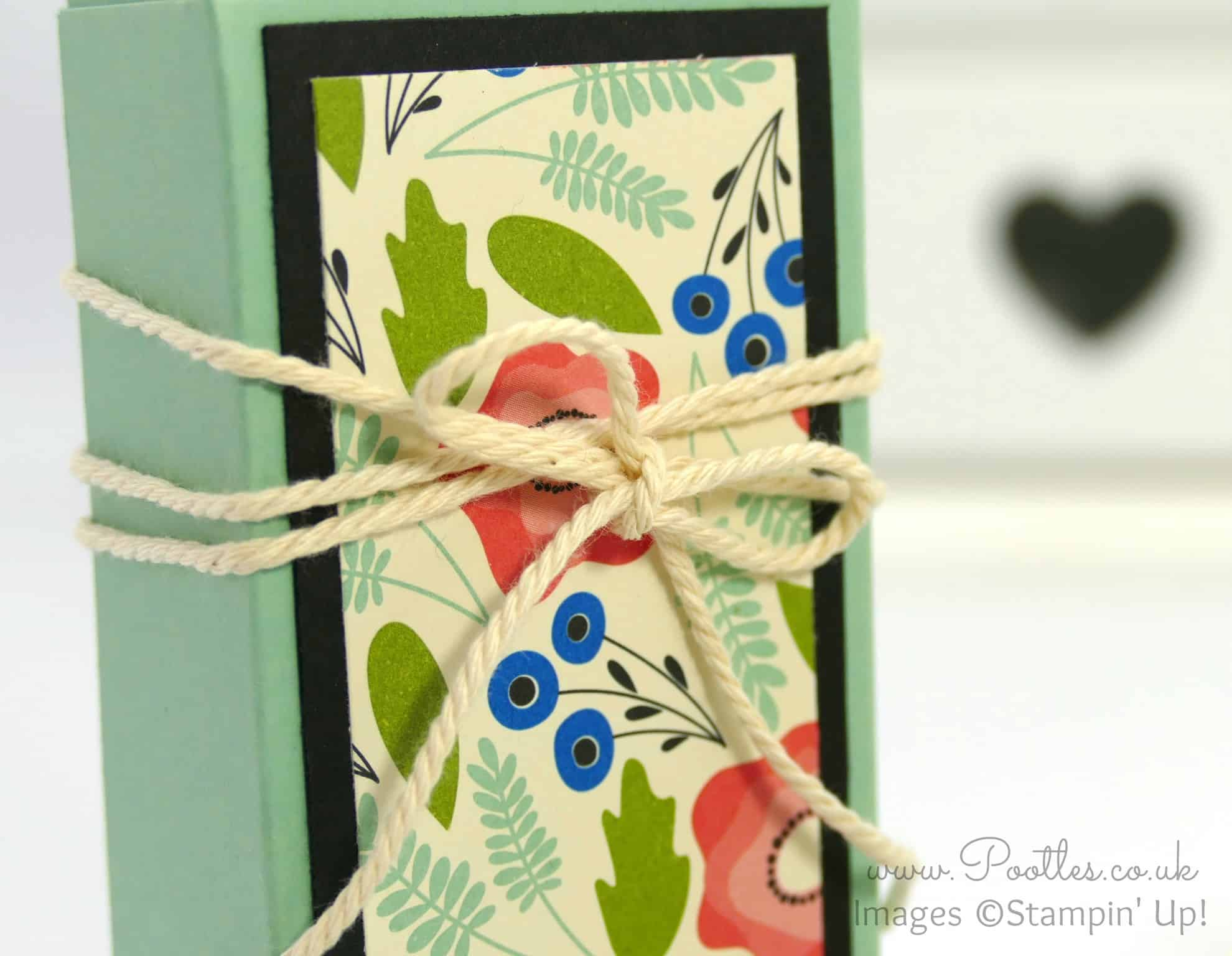 Fold Over Box using Stampin' Up! Pretty Petals DSP
