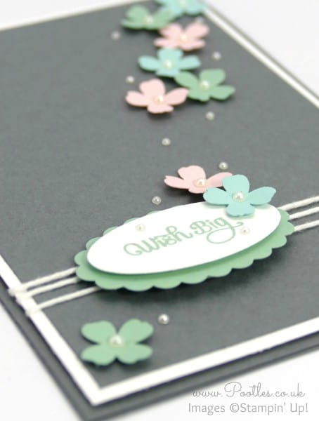 Stampin' Up! Demonstrator Pootles - Greys and Pastels make for pretty cards! Side Profile