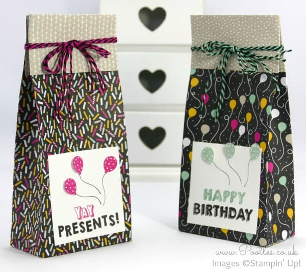Stampin' Up! Demonstrator Pootles - It's My Party Huge Bag using Stampin' Up! DSP